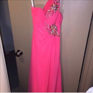 Coral Chiffon Gown